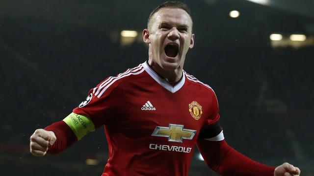 Wayne Rooney beim Jubeln.