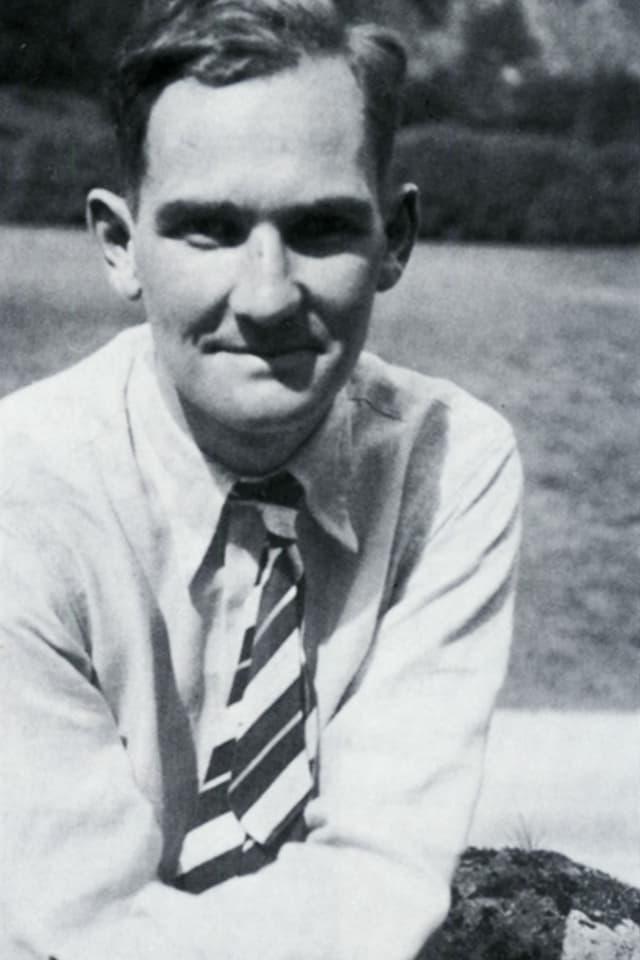 Der junge Werner Oswald, Gründer der Hovag, der Vorgängerfirma der Ems-Chemie.