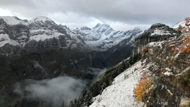 Angezuckerte Alpsteinkette am Morgen des 6. Oktobers