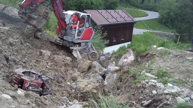 Aufräumarbeiten beim Hasenbach in Stein AR 2013.