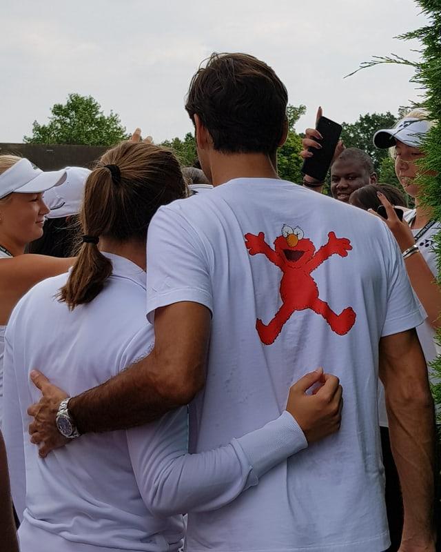 Ein Foto mit dem achtfachen Wimbledon-Champion.