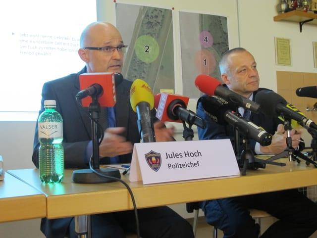 Jules Hoch, Polizeichef an der Pressekonferenz