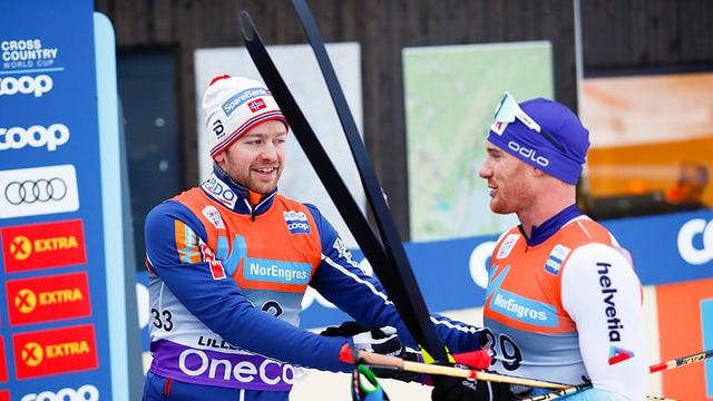 Sjur Røthe e Dario Cologna.