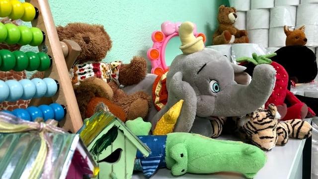 Zur Verfügung gestelltes Spielzeug für die Kinder.