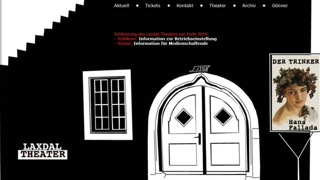 Webseite des Laxdal-Theaters