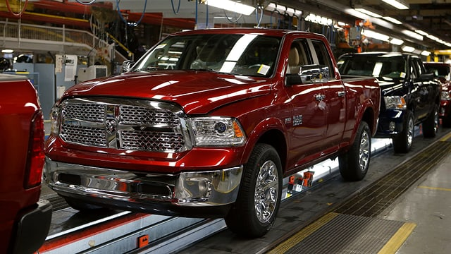 Purtret d'in pick-up truck da Chrysler.