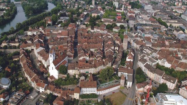 Vogelperspektive Altstadt Aarau.