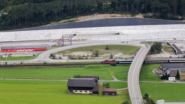 Gotthard-Nordportal des Neat-Tunnels.
