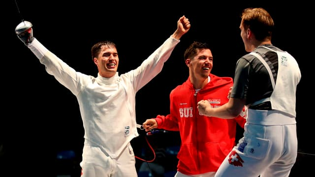 Im Juni feierten Max Heinzer, Fabian Kauter und Florian Staub (von links nach rechts) den EM-Titel mit dem Team.