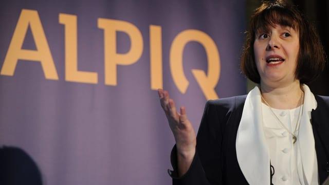 Alpiq-Chefin Jasmin Staiblin findet die Quartalszahlen «solide», trotzdem rechnet sie fürs Gesamtjahr mit einem Verlust,