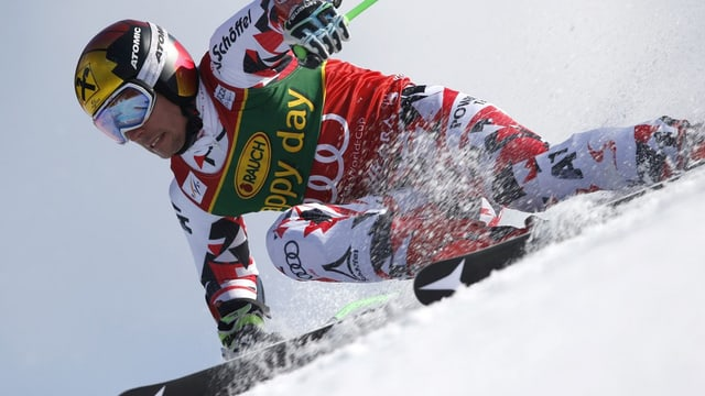 Marcel Hirscher en il super-G a Méribel.