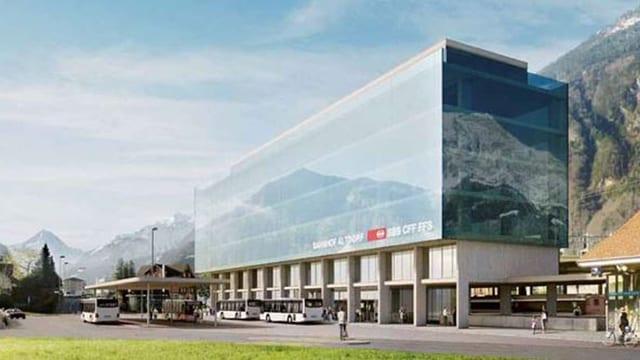 Visualisierung des neuen Kantonsbahnhofs