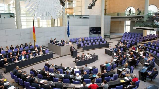 sala da parlament en Germania, il Bundestag