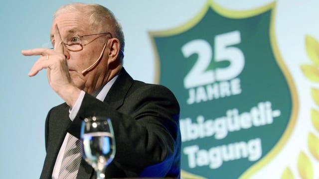 SVP-Stratege Blocher auf dem Albisgüetli.