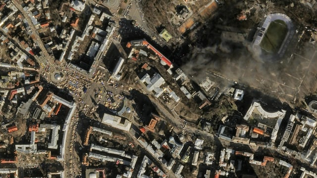 Satellitenbild von Strassenzügen
