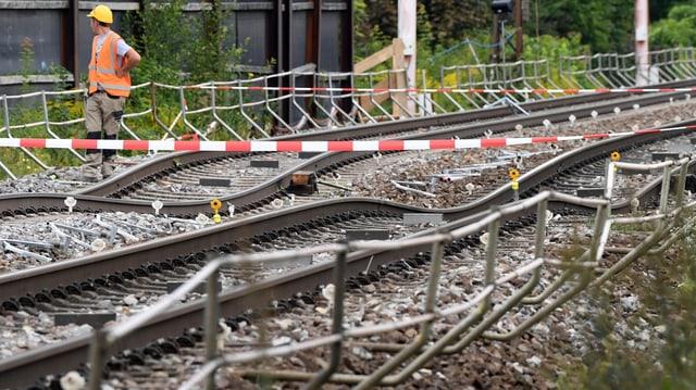 Die Gleise in Rastatt – sie sehen aus wie eine Achitbahn