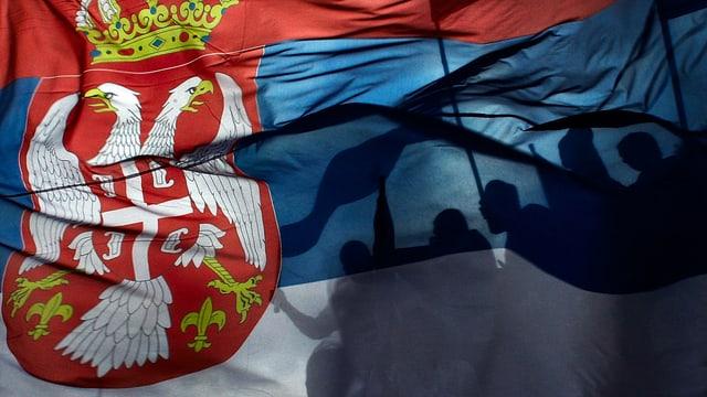 Fahne Serbiens