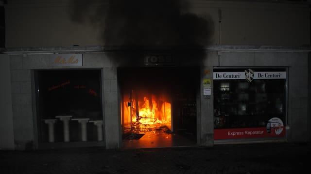 Brand an der Kappellgasse in der Luzerner Altstadt.