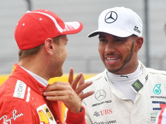 Sebastian Vettel und Lewis Hamilton.