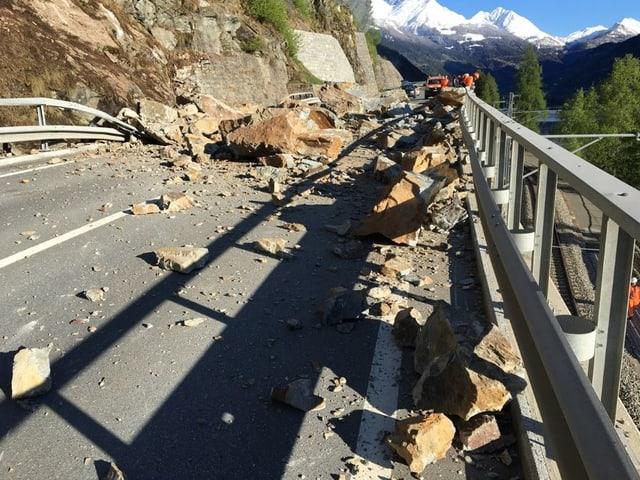 Die verschüttete Berninastrasse