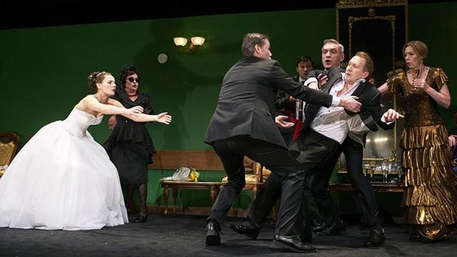 Szene aus Tschechows «Iwanow» am Theater der Nationen Moskau.