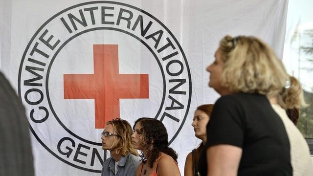 Flagge des roten Kreuzes.