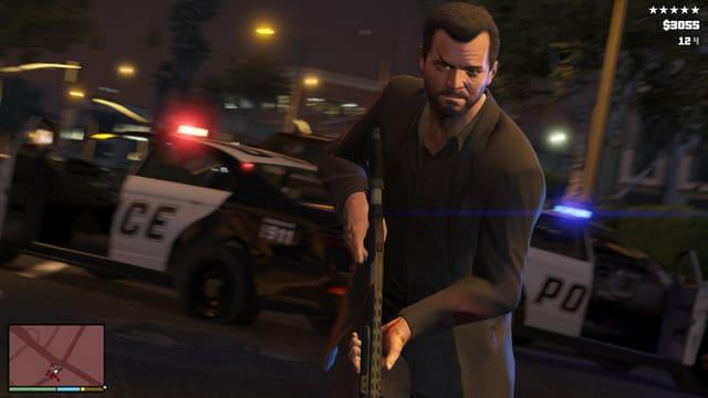 Gieus da computer ch'illustreschan violenza a moda explicita - qua in maletg da «Grant Theft Auto V».