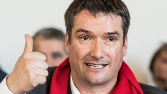 SP-Präsident Christian Levrat:  «Jetzt bin ich voll drauf und habe sehr viel Freude daran.»