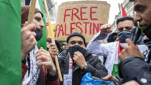 Solidaritätskundgebungen für Palästina in Schweizer Städten