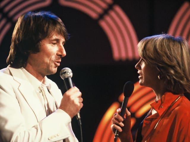 Udo Jürgens mit der ehemaligen TV-Ansagerin Heidi Abel.