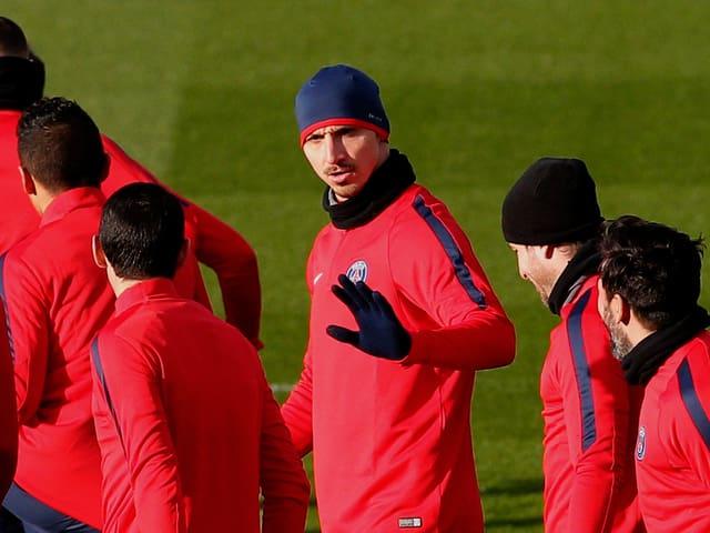 Zlatan Ibrahimovic im PSG-Training.
