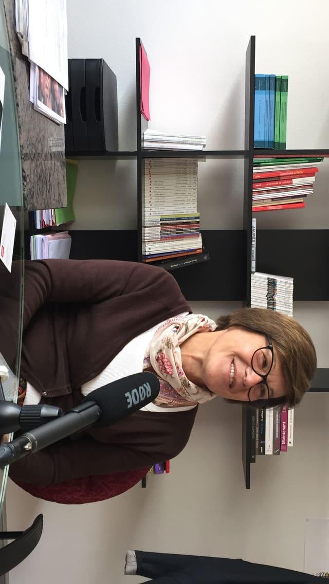Martine Filleul in ihrem Büro.