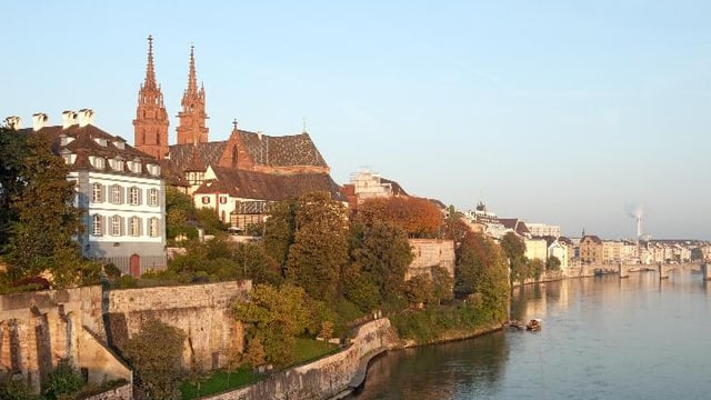 Münster, blauer Himmel, Rhein