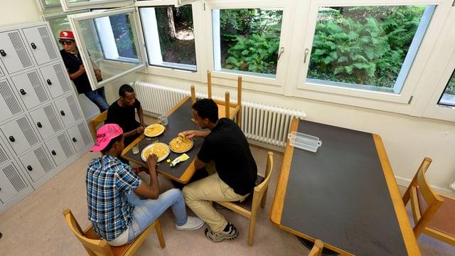 Bild aus einer Luzerner Asylunterkunft