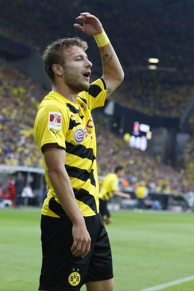 Ciro Immobile bejubelt einen Treffer für Borussia Dortmund.