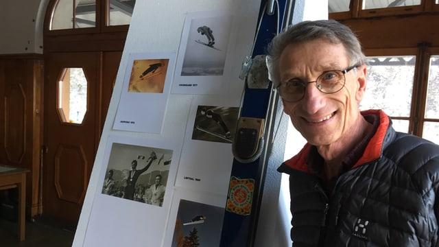 Walter Steiner mit Ski