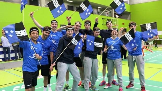 Das Team Argovia nach dem Halbfinal-Hinspiel gegen St. Gallen-Appenzell