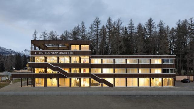 arena da biatlon a Lantsch cun il Nordic House