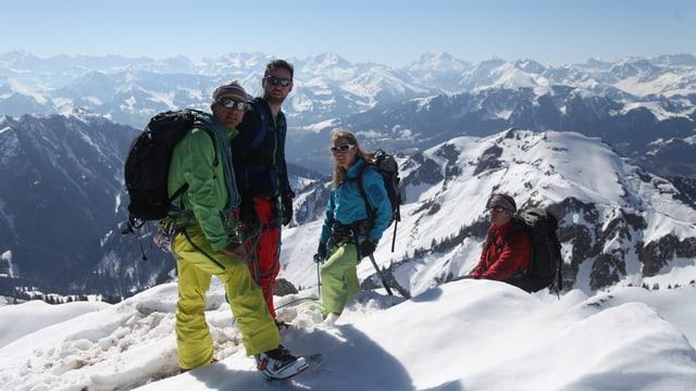 Crew auf dem Gantrisch (2175 m ü M.).