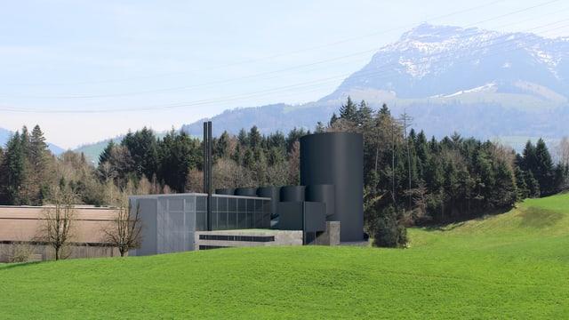 Das geplante Kraftwerk in Haltikon bei Küssnacht.