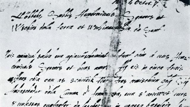 Cumenzament da la brev da Gieri Genatsch