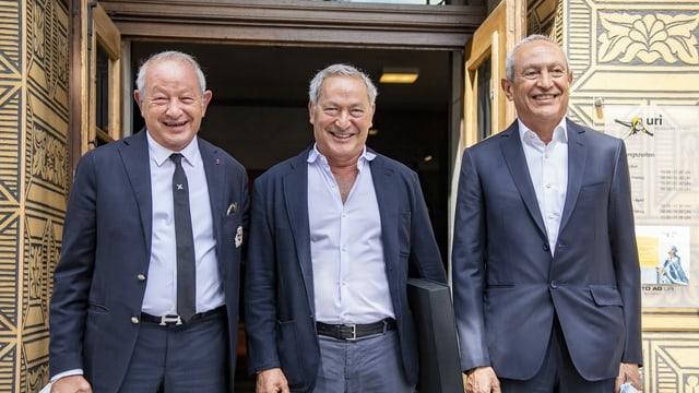 Ils frars (da san.) Naguib Sawiris, Samih Sawiris und Nassef Sawiris