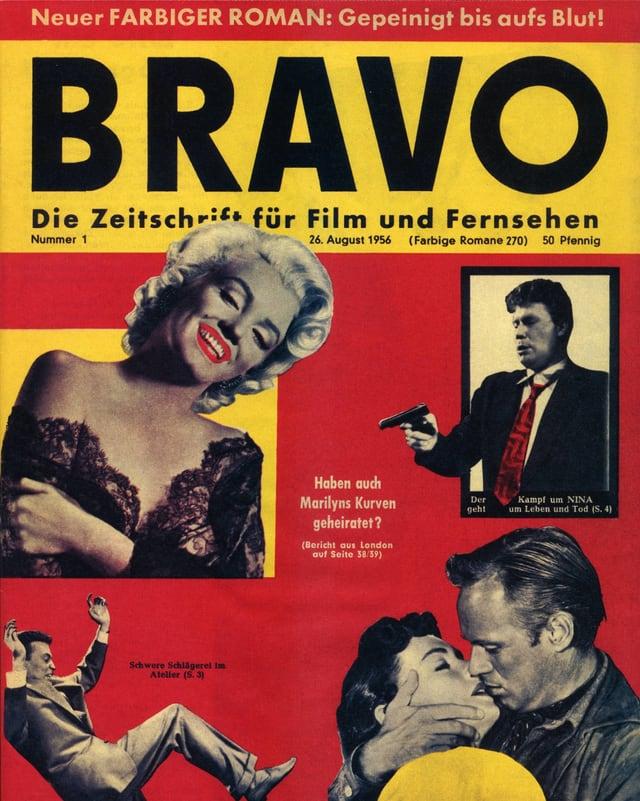 Cover der ersten «Bravo» vom 26. August 1956 mit Marilyn Monroe.