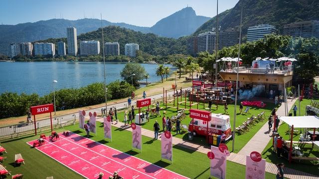 Ina fotografia da l'areal dal «House of Switzerland» durant ils ultims gieus olimpics a Rio de Janeiro.