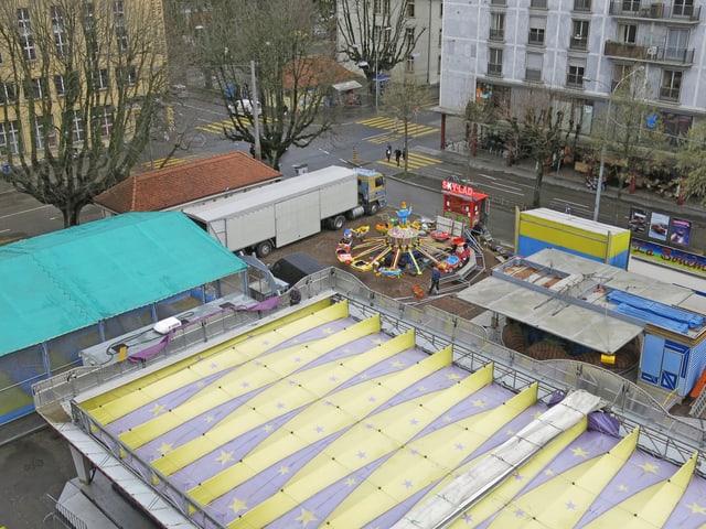 Blick auf den Neumarktplatz in Biel.