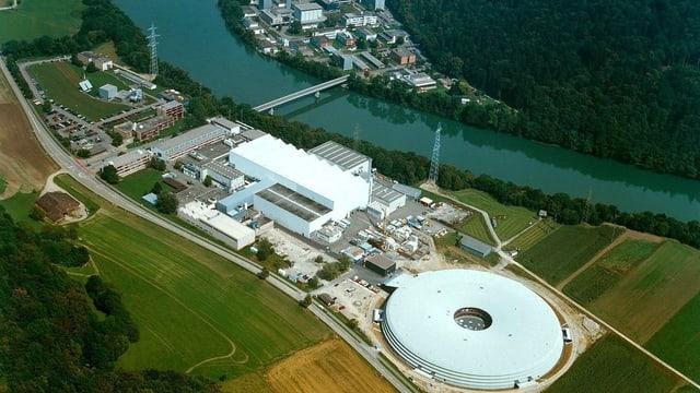 Luftaufnahme vom Paul Scherrer Institut in Villigen