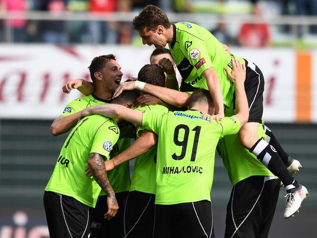 Die Lugano-Spieler.