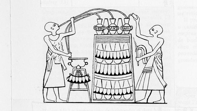 Preparaziun da bavronda - pictura murala en la fossa dal retg Amenophis II
