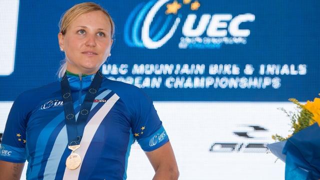 Kathrin Stirnemann bei der Siegerehrung