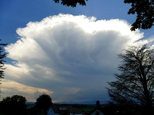 Imposante Wolke.